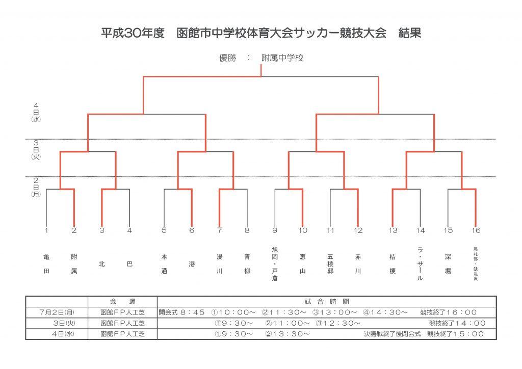 H30 函館市中体連 結果